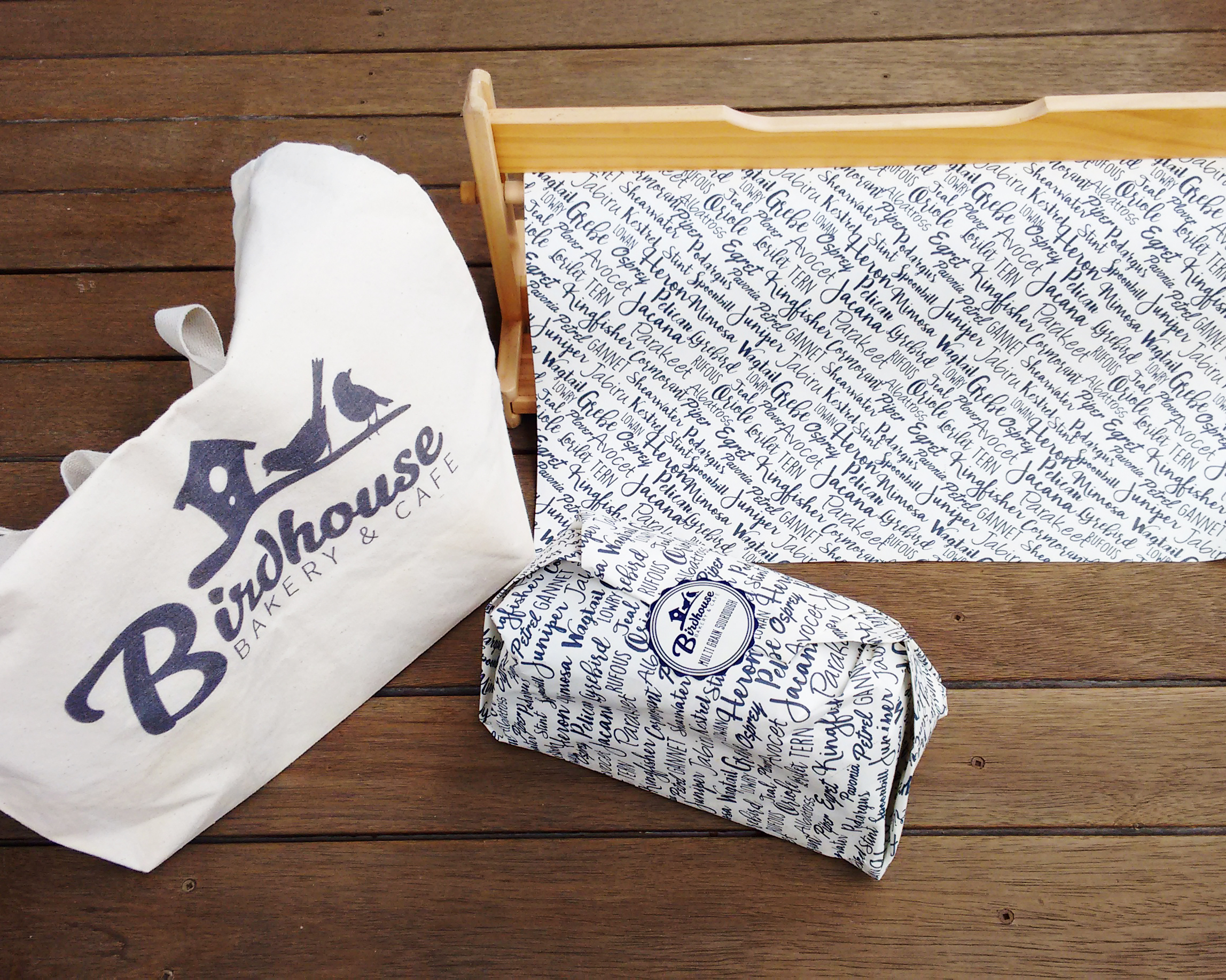Birdhouse Bakery & Cafe Packaging