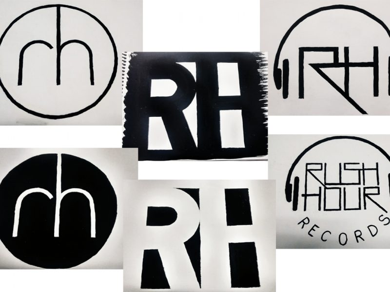 Rush Hour Record Store Logos
